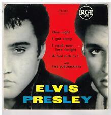 "Elvis PRESLEY    One night         7"" EP 45 tours"