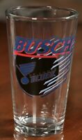 St. Louis Blues Busch Beer Pint Glass Cup Hockey Vintage 90s NHL SGA
