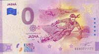 BILLET 0  EURO  JASNA  SLOVAQUIE  2020 NUMERO DIVERS