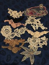 12 Lace Appliques, poor quality, with musty smell