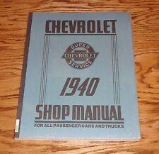1940 Chevrolet Car & Truck Shop Service Manual 40 Chevy