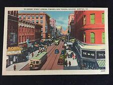 Mid-1900s Granby Street Scene & Trolleys, Roxy and The Hub, Norfolk, VA Postcard