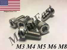 New listing M3 M4 M5 M6 M8 Stainless Steel Socket Head Cap Screw 10,20,50,100pcs A2 Din: 912