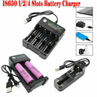 18650 Battery Li-ion 3.7V 3000mAh 30Q Rechargeable with 1/2/4 Slots USB Charger