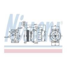 Fits Renault Megane MK2 1.4 16V Genuine Nissens A/C Air Con Compressor