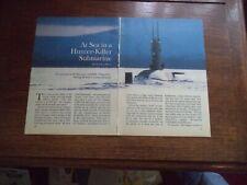 HMS CHURCHILL KILLER SUBMARINE   VINTAGE MAGAZINE ARTICLE