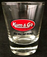 KUM & GO CLEAR GLASS SHOT GLASS SOUVENIR BARWARE