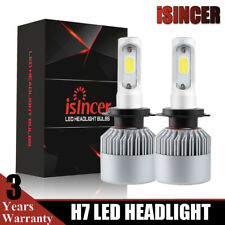 2x CREE H7 1500W 225000LM LED Headlight Kit 6000K White High Power Bulb One Pair