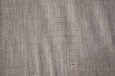 "Natural Oatmeal 100% Flax Linen Fabric 5 OZ. Organic Fiber 58""W Soft Shirting"