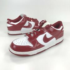 Nike Dunk Low Red Patent Leather 2001 Mens 11.5