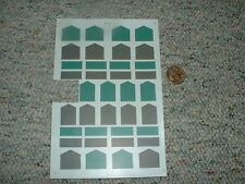 Microscale decals HO 87-431 Anti glare panels green grey  F121