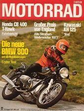 M7717 + Test BMW R 80/7 + Fahrbericht HONDA CB 400 T-Hawk + MOTORRAD 17/1977