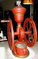 "ANTIQUE 1800""S WOODRUFF & EDWARDS NATIONAL MILL COFFEE GRINDER, BRASS & IRON"