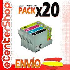 20 Cartuchos T0551 T0552 T0553 T0554 NON-OEM Epson Stylus Photo RX520