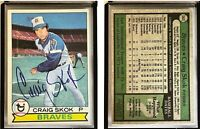 Craig Skok Signed 1979 Topps #363 Card Atlanta Braves Auto Autograph