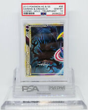 Pokemon TRIUMPHANT DARKRAI & CRESSELIA #99 LEGEND TOP PSA 10 GEM MINT #28386227