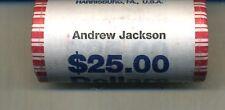 2008 D ANDREW JACKSON PRESIDENT DOLLAR $25 BANK CHOICE BU ROLL