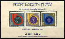 2024 Poland 1961 Conference of Cmmunications Ministers Block **MNH