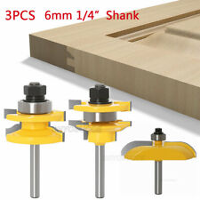 "1/4"" 6mm Shank Raised Panel Cabinet Door Router Bits Woodwork Milling Cutter Kit"