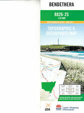 Bendethera 8826-2-S NSW    1:25,000  topographic orthographic map  new freepost