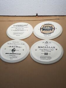 Vintage Whiskey Porcelain Wall Plaques