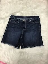 Women's Rock & Republic Denim Blue Jean Shorts Sz. 14 Cut Off
