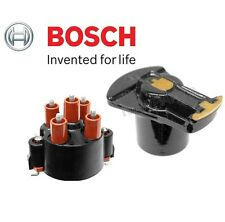 For Porsche 924 944 Pair Set of Distributor Cap & Ignition Rotor OEM Bosch 04155