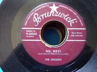 The Crickets Buddy Holly Not Fade Away/Oh Boy Brunswick 9-55035 45 rpm