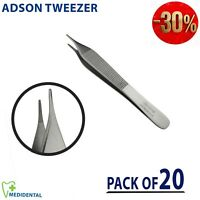 Adson Serrated non Toothed Dressing Surgical forceps Tweezers 12 cm pack of 20