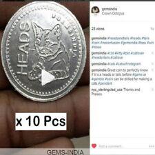 10 PCS HEAD AND TAIL FLIP Toss Coin #Games #MATCH w FRIENDS #CAT #GEMSINDIA