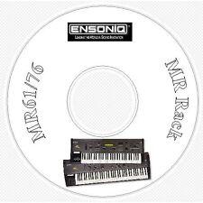 Ensoniq MR61 MR76 Sound Library, Manual, MIDI Software & Editor CD MR 61 76 Rack