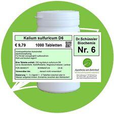 Schüßler - Salz 6 Kalium sulfuricum  D6 1000 Tabletten PZN 08000577