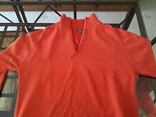 Maglioncino maglione in cotone SLAM da uomo con cerniera - Taglia L