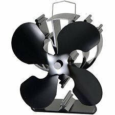 4-Blade Heat Powered Stove Fan For Wood / Log Burner/Fireplace Increases 80% Air