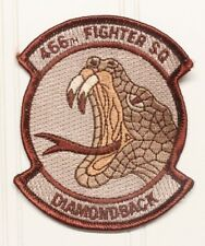 USAF Air Force Patch:  466th Fighter Squadron - tan