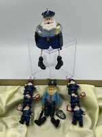 Vintage Lot Of 4 Police Officer Christmas Ornaments
