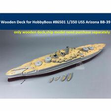 Wooden Deck Kit for 1/350 HobbyBoss 86501 USS Arizona BB-39 1941 Model CY350046