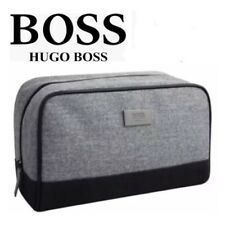 HUGO BOSS Men s Toiletry Wash Bag Shave Travel Pouch Grey 100% GENUINE  Brand New f1521ad548eb6