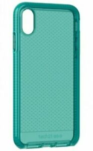 Tech21 Evo Check FlexShock Case for Apple iPhone Xs Max - Aquamarine Clear