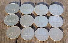 Lot of 12 Soviet USSR All Nickel kopeks coins 1961 - 1991 Communist Coat of Arms