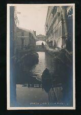 Italy  Venice VENEZIA Rio della Paglia c1910/20s? RP PPC