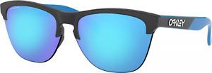 Oakley FROGSKINS LITE Sunglasses OO9374-2863 Black Bright Blue W/ PRIZM Sapphire