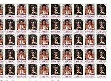 St Vincent 2 Full Sheets of 50 Se-Tenant Stamps of Michael Jackson from 1987 MNH