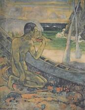 Aft Paul Gauguin Printwork on Linen-Canvas Le Pauvre Pecheur c1960/70s