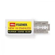 80pcs - Genuine Feather Hi-stainless Double Edge Razor Platinum Coated Blades