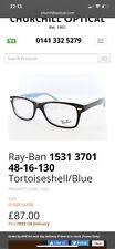 Ray Ban 1531  3701 48/16 130 Glass Frame