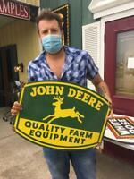 john deere tire beer motor gasoline oil dealer porcelain sign MAKE AN OFFER!2
