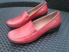New Red HOTTER Leather Comfort Loafers Size 9
