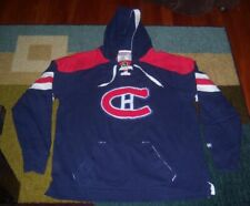 RARE Authentic CCM MONTREAL CANADIENS Heavy/Stitched THROWBACK Hoody JERSEY 2XL