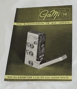 Gami 16 Subminiature Camera Brochure
